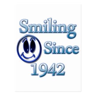 Seit 1942 lächeln postkarte