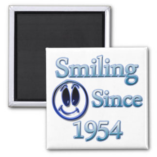 Seit 1954 lächeln quadratischer magnet