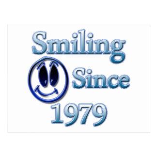 Seit 1979 lächeln postkarte