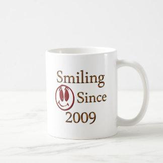 Seit 2009 lächeln kaffeetasse