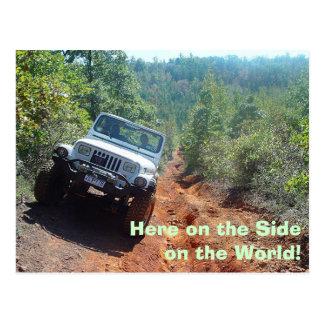 Seite der Welt, hier auf der Seite auf der Welt! Postkarte