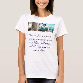 Seite-FahrwerkaCC, drehte ich 30 auf einem Strand, T-Shirt