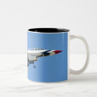 Seiten-Tasse U.S.A.F.Thunderbird 8 Zweifarbige Tasse