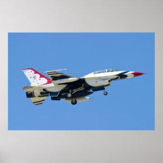 Seiten-U.S.A.F. Thunderbird 8 Poster