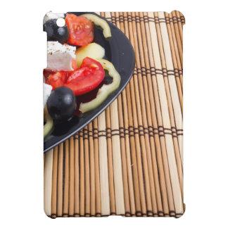 Seitenansicht des griechischen vegetarischen iPad mini hülle