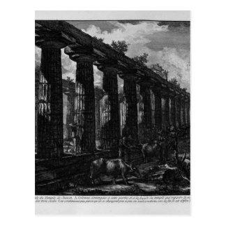 Seitenansicht des Tempels von Juno Giovanni Postkarte