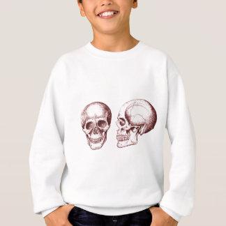 Seitengesicht der roten menschlichen Schädel Sweatshirt