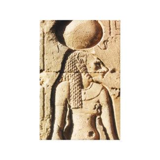 Sekhmet Löwin-Göttin von oberem Ägypten Gespannte Galeriedrucke