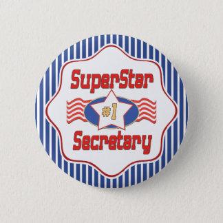 Sekretär der Superstar-Zahl-eine Runder Button 5,7 Cm