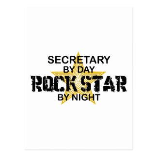 Sekretär Rockstar bis zum Nacht Postkarte