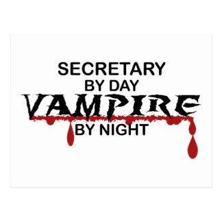 Sekretär Vampire bis zum Nacht Postkarte