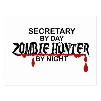 Sekretär Zombie Hunter Postkarte