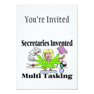 Sekretäre Invented Multi Tasking 12,7 X 17,8 Cm Einladungskarte