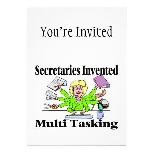 Sekretäre Invented Multi Tasking Personalisierte Ankündigungskarte