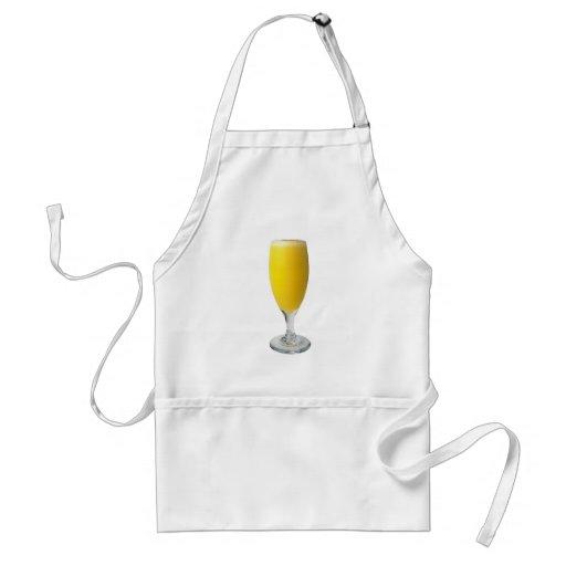 Sekt Orangensaft sparkling wine orange juice Schürzen