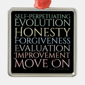 Selbst, der Evolutions-Erinnerungs-Schlüssel Silbernes Ornament