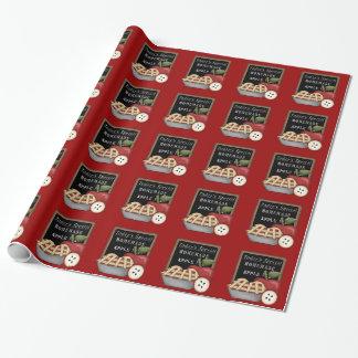 Selbst gemachtes Apfelkuchen-Packpapier Geschenkpapier