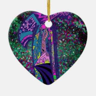 Selbst Keramik Herz-Ornament