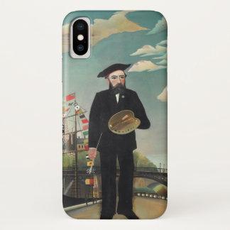Selbst Porträt-Landschaft 1890, Henri Rousseau iPhone X Hülle
