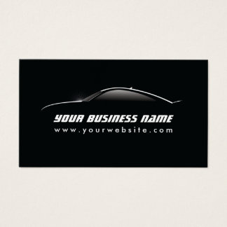 Selbstbewegende coole Auto-Kontur-Auto-Reparatur Visitenkarten