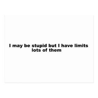 Selbstmissbilligender lustiger Slogan! Postkarte
