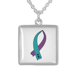 Selbstmord-Bewusstseins-Band Sterling Silberkette