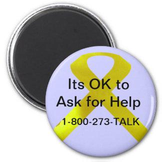 Selbstmord-Bewusstseins-Hilfsmagnet Runder Magnet 5,1 Cm