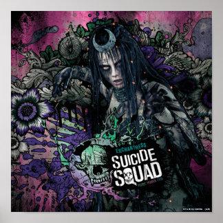 Selbstmord-Gruppe| Enchantress-Charakter-Graffiti Poster