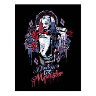 Selbstmord-Gruppe | Harley Quinn schwärzte Postkarte