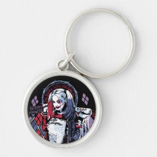 Selbstmord-Gruppe | Harley Quinn schwärzte Schlüsselanhänger