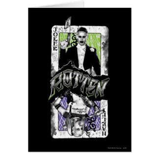Selbstmord-Gruppe   Joker u. Harley faul Karte