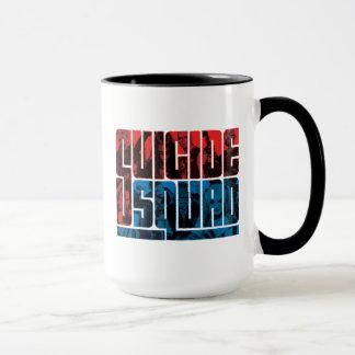 Selbstmord-Gruppe | rotes und blaues Logo Tasse