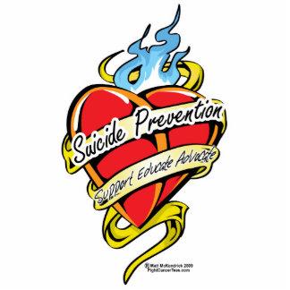 Selbstmord-Verhinderungs-Tätowierungs-Herz Fotoskulptur