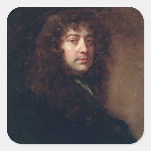 Selbstporträt, 1665-70 (Öl auf Leinwand) Sticker