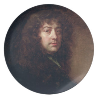 Selbstporträt, 1665-70 (Öl auf Leinwand) Flacher Teller
