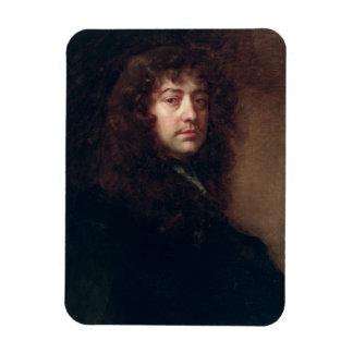 Selbstporträt, 1665-70 (Öl auf Leinwand) Eckige Magnete