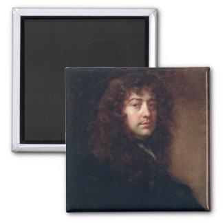 Selbstporträt, 1665-70 (Öl auf Leinwand) Quadratischer Magnet