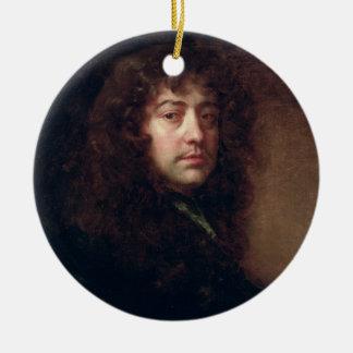 Selbstporträt, 1665-70 (Öl auf Leinwand) Rundes Keramik Ornament