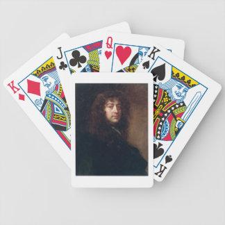 Selbstporträt, 1665-70 (Öl auf Leinwand) Spielkarten