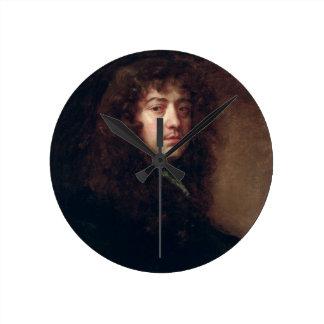 Selbstporträt, 1665-70 (Öl auf Leinwand) Wanduhr