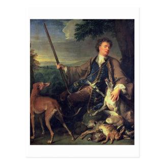 Selbstporträt als Jäger, 1699 (Öl auf Leinwand) Postkarte