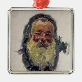 Selbstporträt Claude Monets  , 1917 Quadratisches Silberfarbenes Ornament
