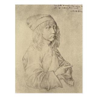 Selbstporträt im Alter von dreizehn, 1484 Postkarte