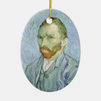 Selbstporträt im Blau durch Vincent van Gogh Keramik Ornament