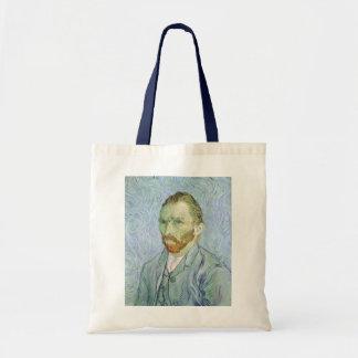 Selbstporträt im Blau durch Vincent van Gogh Tragetasche