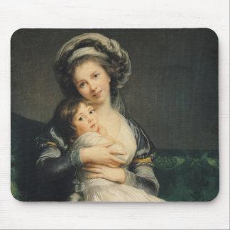 Selbstporträt in einem Turban mit ihrem Kind, 1786 Mauspad