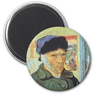 Selbstporträt mit dem verbundenen Ohr; Vincent van Runder Magnet 5,7 Cm
