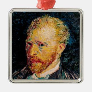 Selbstporträt Vincent van Goghs |, 1887 Quadratisches Silberfarbenes Ornament