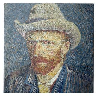 Selbstporträt Vincent van Goghs | mit geglaubtem Keramikfliese
