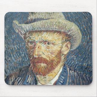 Selbstporträt Vincent van Goghs   mit geglaubtem Mousepad